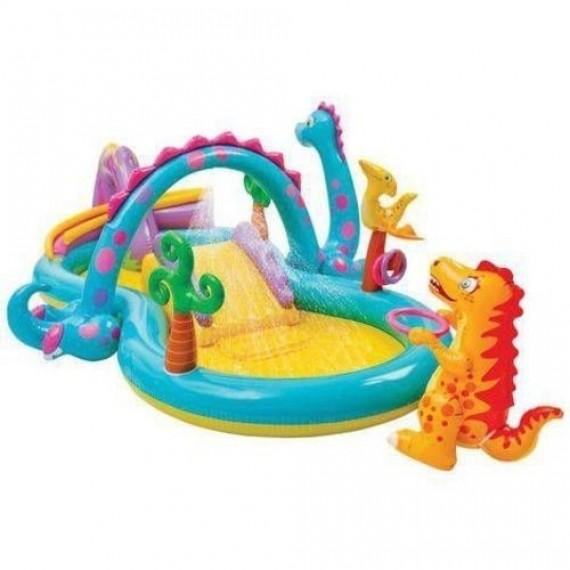 Piscina Playground Mundo Encantado Dos Dinossauros 290 Litros 57135 Intex