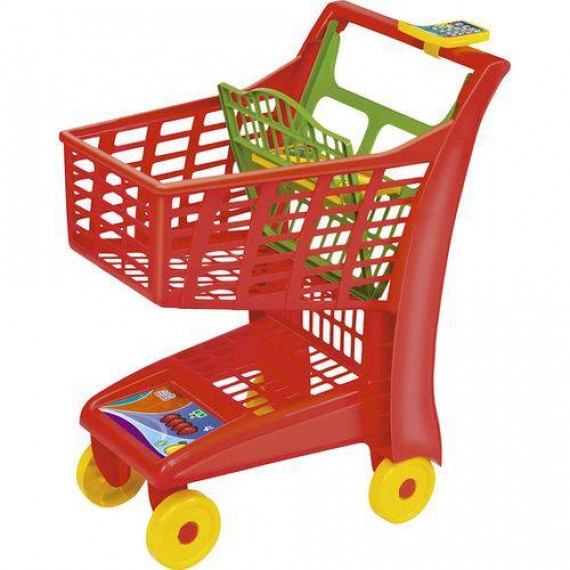 Carrinho de Compras Porta Boneca Magic Toys Market - Vermelho